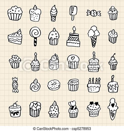hand draw cake element  - csp5278953