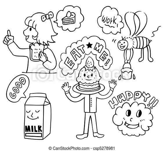 Funny Cute Food Cartoons Vector Funny Cute Food