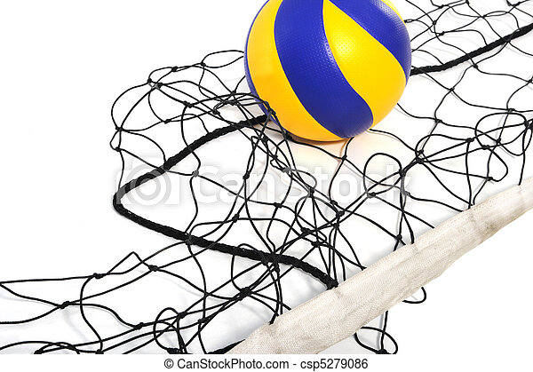 Volleyball ball and volleyball net - csp5279086