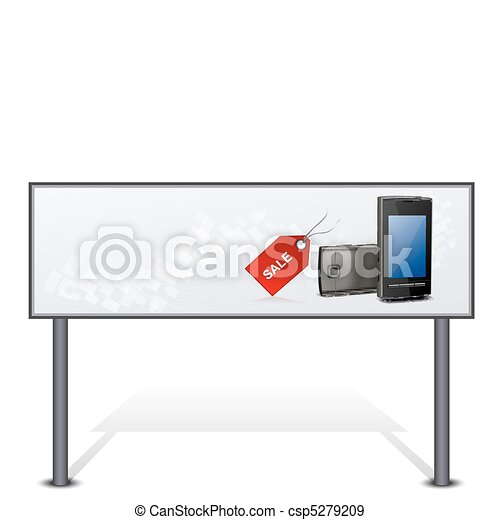 mobile for sale on bill board - csp5279209