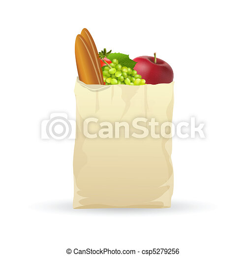 fresh fruits in bag - csp5279256
