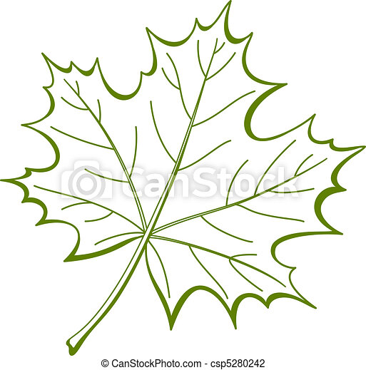 feuille, de, canadien, Érable, pictogramme - csp5280242