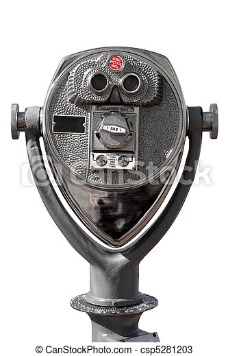 Coin-operated binoculars - csp5281203
