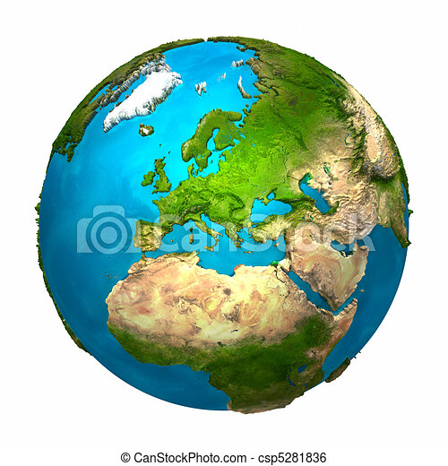 Planet Earth - Europe - csp5281836