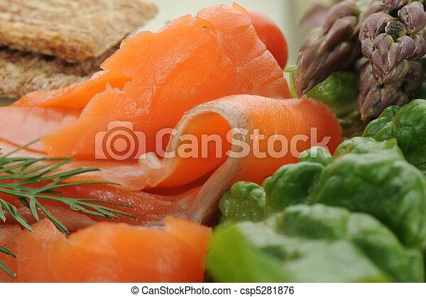 Smoked Salmon - csp5281876