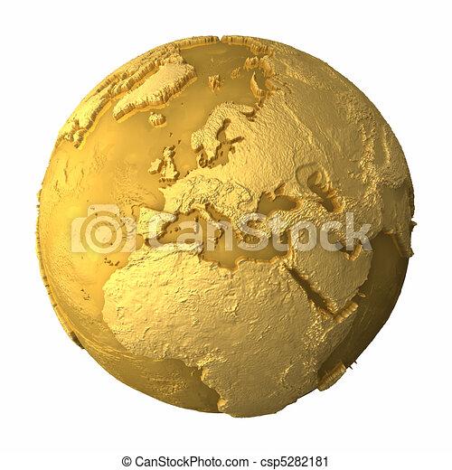 Gold Globe - Europe - csp5282181