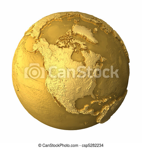 Gold Globe - North America - csp5282234