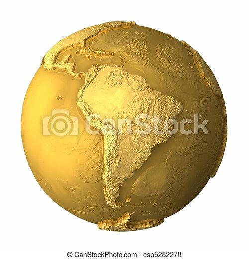 Gold Globe - South America - csp5282278