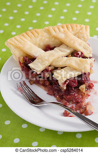 Cranberry Walnut Pie Slice - csp5284014