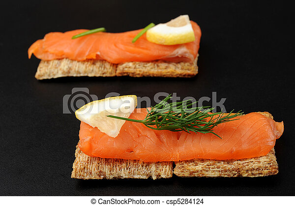Smoked Salmon Snacks - csp5284124
