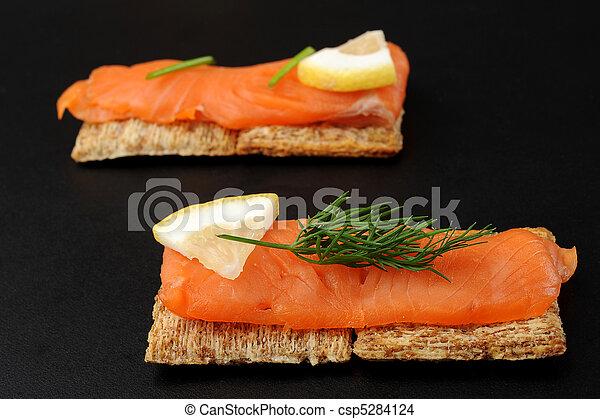 Smoked Salmon Snacks - csp5284124