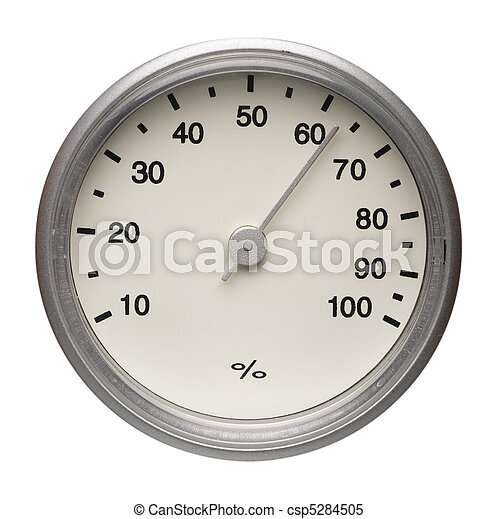 Dial of hygrometer, isolated - csp5284505