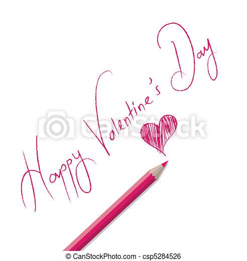 Happy Valentine's day card - csp5284526