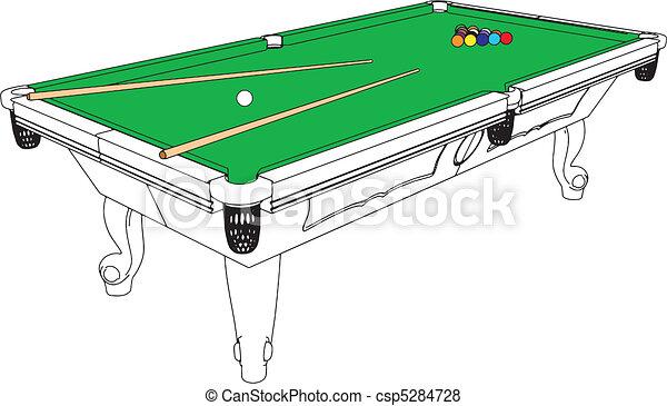 Billiards Snooker Table Perspective - csp5284728