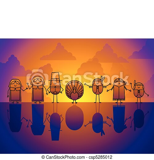 Thanksgiving character background - csp5285012