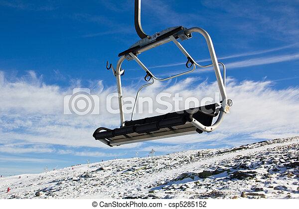 Aerial tramway in Mountain range Serra da Estrela - csp5285152