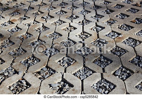 Rock Concrete Paver Walkway - csp5285842