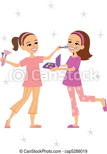 Little girls playing - csp5286019