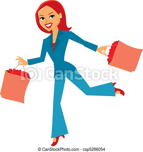 Women with shopping bags - csp5286054
