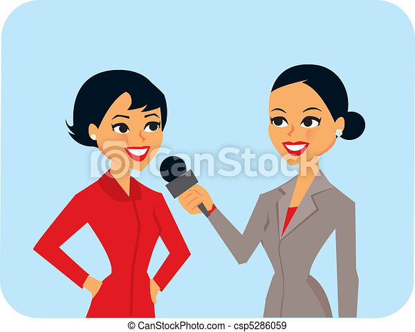 Eps Vectors Of Women Interviewing Cartoon Of Women In