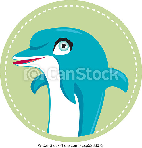Cute dolphin illustration. - csp5286073