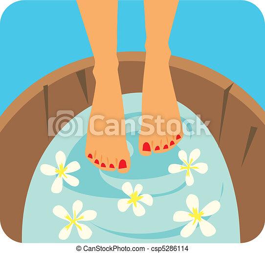 Foot Care Graphic Illustration - csp5286114
