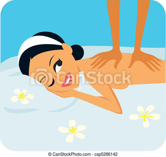 Spa Woman Receiving Massage - csp5286142