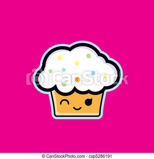 Smilng Cupcake - csp5286191