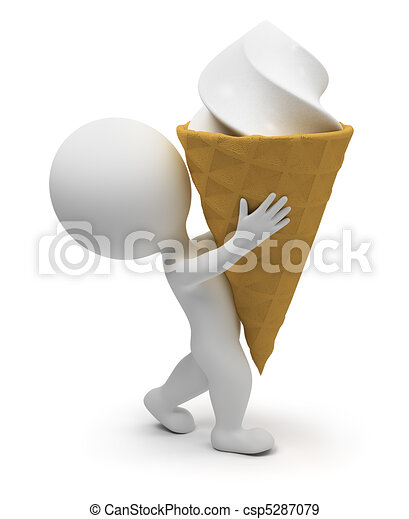 3d small people - ice-cream - csp5287079