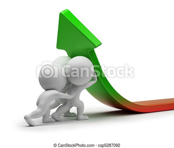 Estadística, gente,  -, mejora, pequeño,  3D - csp5287092