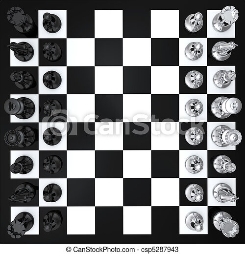 Chess top view - csp5287943