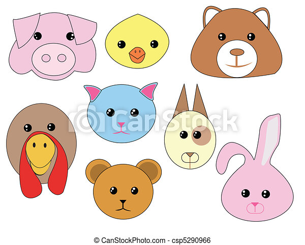 Vector set - domestic animals - csp5290966