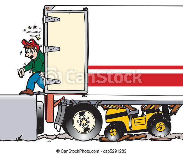 forklift thru trailer - csp5291283