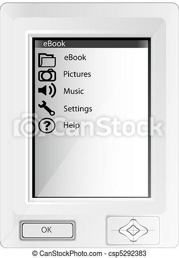 Illustration of white ebook - csp5292383