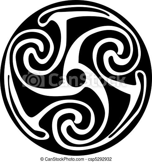 Celtic symbol - tattoo or artwork - csp5292932