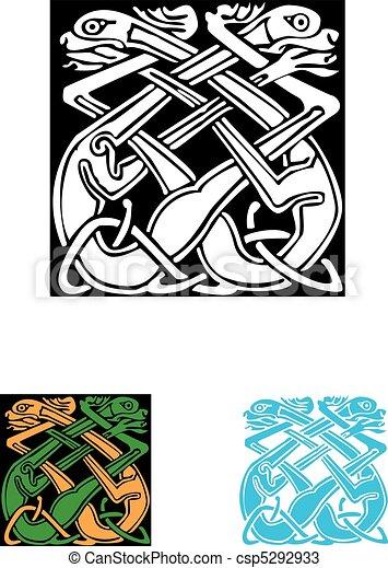 Celtic symbol, great for tatoo or shirt print. - csp5292933