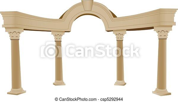 3D Greek arch and column - csp5292944