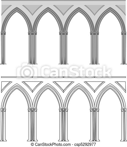 Gothic arch and column - csp5292977