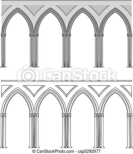 Gothic arch and column - csp5292977