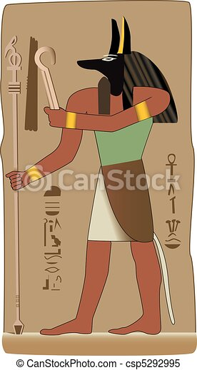 God in vector with egyptian symbol - csp5292995