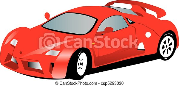 Red sports car - csp5293030