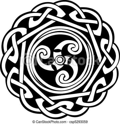 Abstract Celtic design - csp5293059