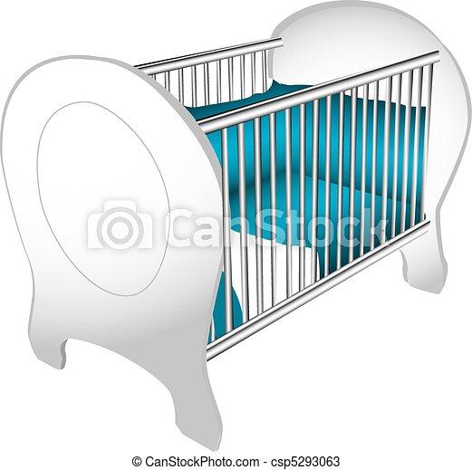 Baby crib illustration - csp5293063