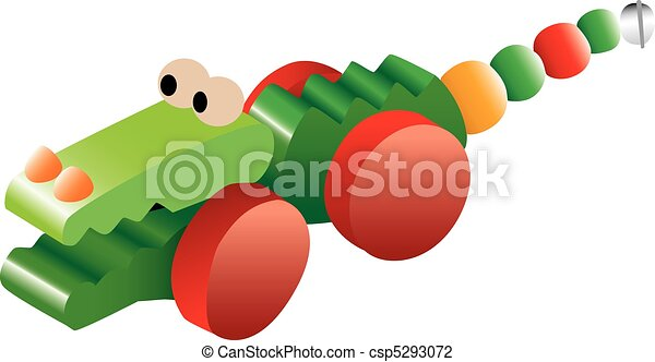 Crocodile toy illustration - csp5293072