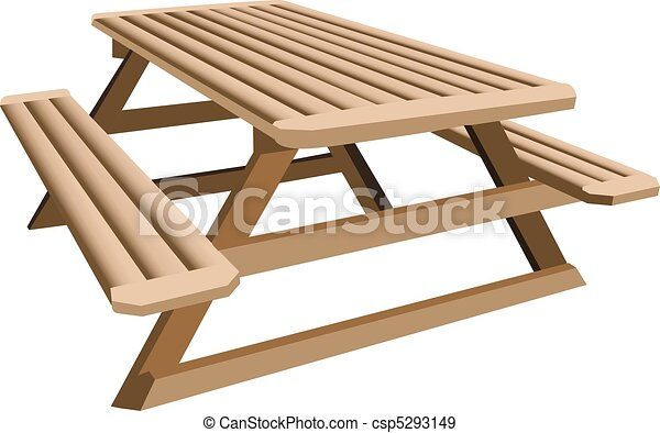 Picnic table - csp5293149