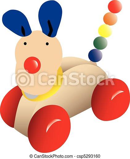 Push-along toy dog - csp5293160