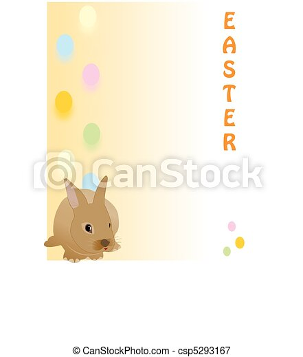 Cute Easter rabbit, great for a quick card, Paper - csp5293167