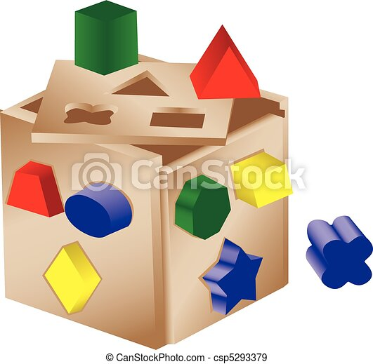 Shaped sorter toy - csp5293379