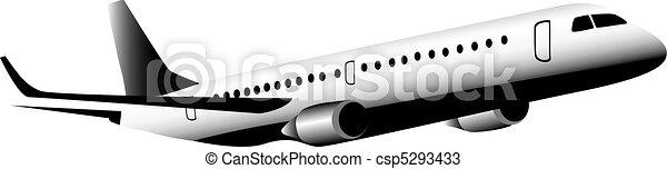 Jet aircraft in flight - csp5293433