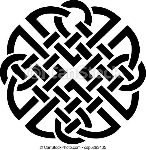 Irish Celtic design - csp5293435